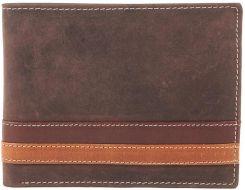 fbe9972995a6c Niepowtarzalny męski portfel skórzany brązowy Dolphin - Brązowy