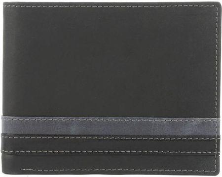 4d6f7ac4bda33 Niepowtarzalny męski portfel skórzany czarny Dolphin - Czarny