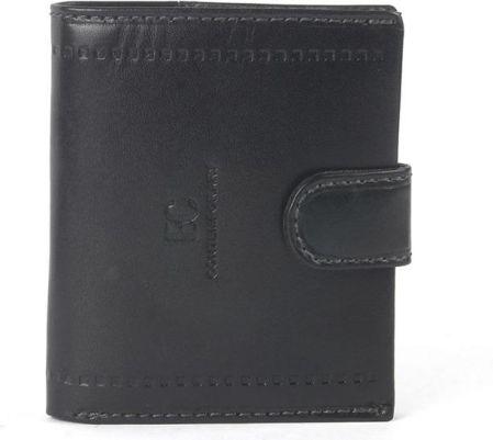 c122e567eeb0f Mały MĘSKI portfel skórzany COVERI skóra naturalna - Czarny
