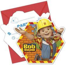 beae7471c68b37 procos Zaproszenie urodzinowe Bob Budowniczy 1szt