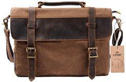 1217cde60b63c Amazon S-Zone unisex Vintage Canvas skórzana torba na ramię torba na ramię  torba na