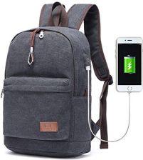 d1bb0cbda15f1 Amazon travi Star łatwiej Canvas Plecak na laptopa z portem ładowania USB  Vintage szkoła plecak podróż