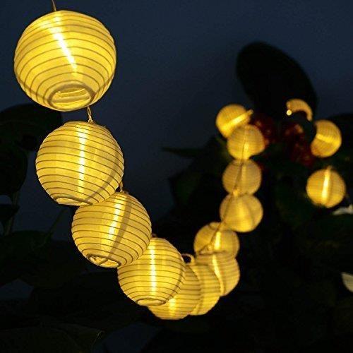 Amazon deallink 20er lampionami LED łańcuch świetlny z uchwytem bateria zewnętrzna lampa ogrodowa i obszar wewnętrzny 2,2 meter ciepła biel (AA) zasil