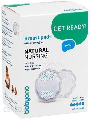 Babyono Wkładki Laktacyjne Natural Nursing White 24 szt. 298/01