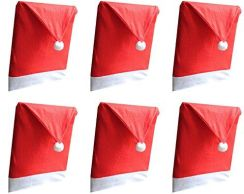 Amazon Hitop Narzuta Na Krzesło Narzuta Na Boże Narodzenie święty Mikołaj Na Krzesło Narzuta Na Krzesło Czapka Mikołaja Z Aksamitu Czapka Mikołaja Mik