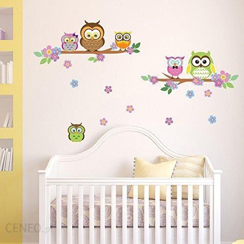 Amazon Denoda Sowy Sęki I Kwiaty Naklejki Na ścianę Owl