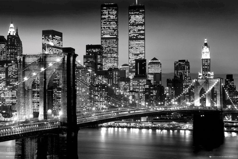 New York Manhattan Nocą Plakat 61x915 Cm Opinie I Atrakcyjne Ceny Na Ceneopl