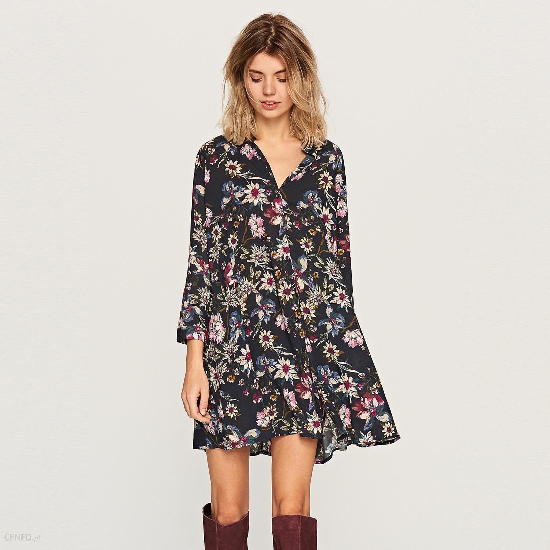 9df428066f Reserved - Koszulowa sukienka w kwiaty - Wielobarwn - Ceny i opinie ...