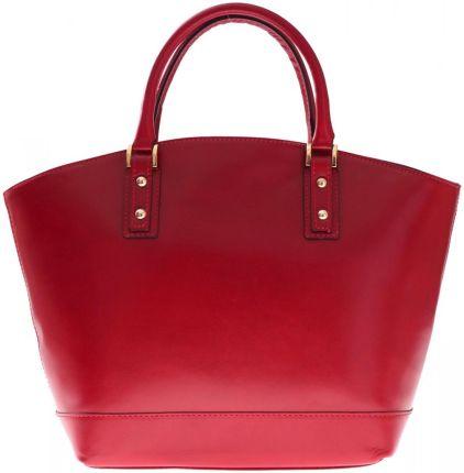 d33fb751e115f Bestseller Torebka skórzana typu Shopperbag Łódka Czerwona (kolory)