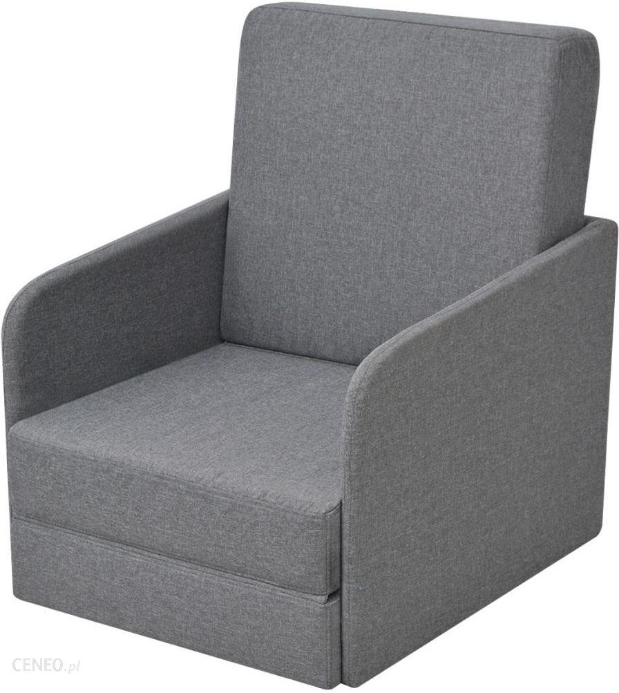 Vidaxl Rozkładany Fotel 59 5X72X72 5 Jasny Szary