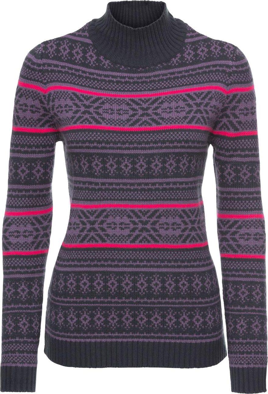 d3a9757c7fa8e3 Sweter z golfem, w norweski wzór, długi rękaw - Ceny i opinie - Ceneo.pl