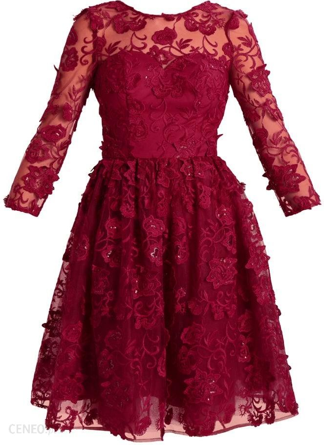 0a3ca7fb2c Chi Chi London SIA Sukienka koktajlowa berry - Ceny i opinie - Ceneo.pl