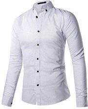 Amazon sentao męska koszula z długim rękawem drukowane TOPS  JvcFw