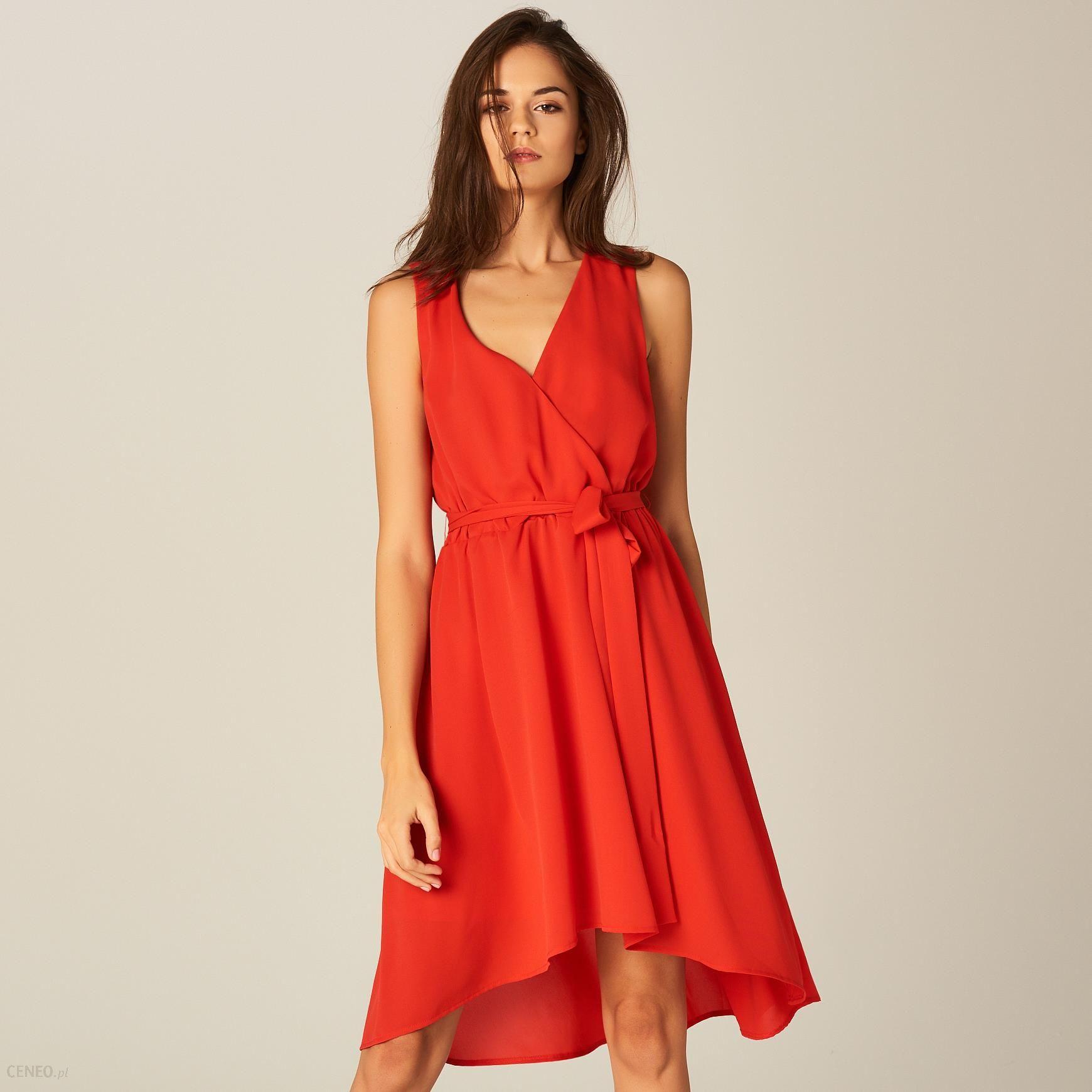 2b424eb154 Mohito - Szyfonowa sukienka z kopertowym dekoltem - Czerwony - zdjęcie 1
