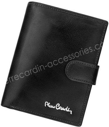 bfc7fe701cf5a Portfel męski skórzany PIERRE CARDIN FOSSIL TILAK12 326A RFID Czarny -  czarny