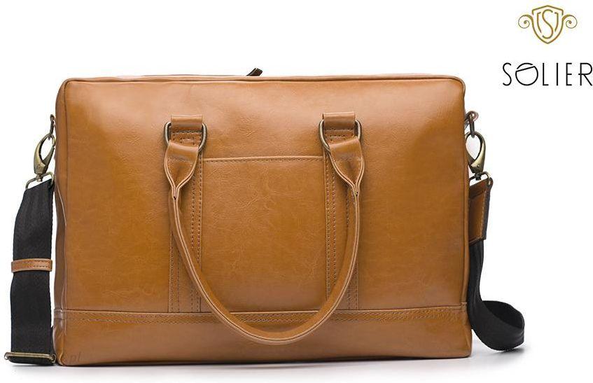4d78a0f57efef Skórzana męska torba na ramię laptopa Solier SL02 - Ceny i opinie ...