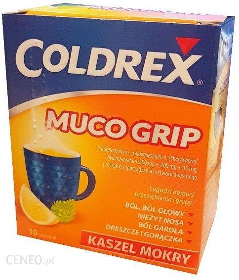 COLDREX MUCO GRIP Proszek na grypę i przeziębienie 10sasz.
