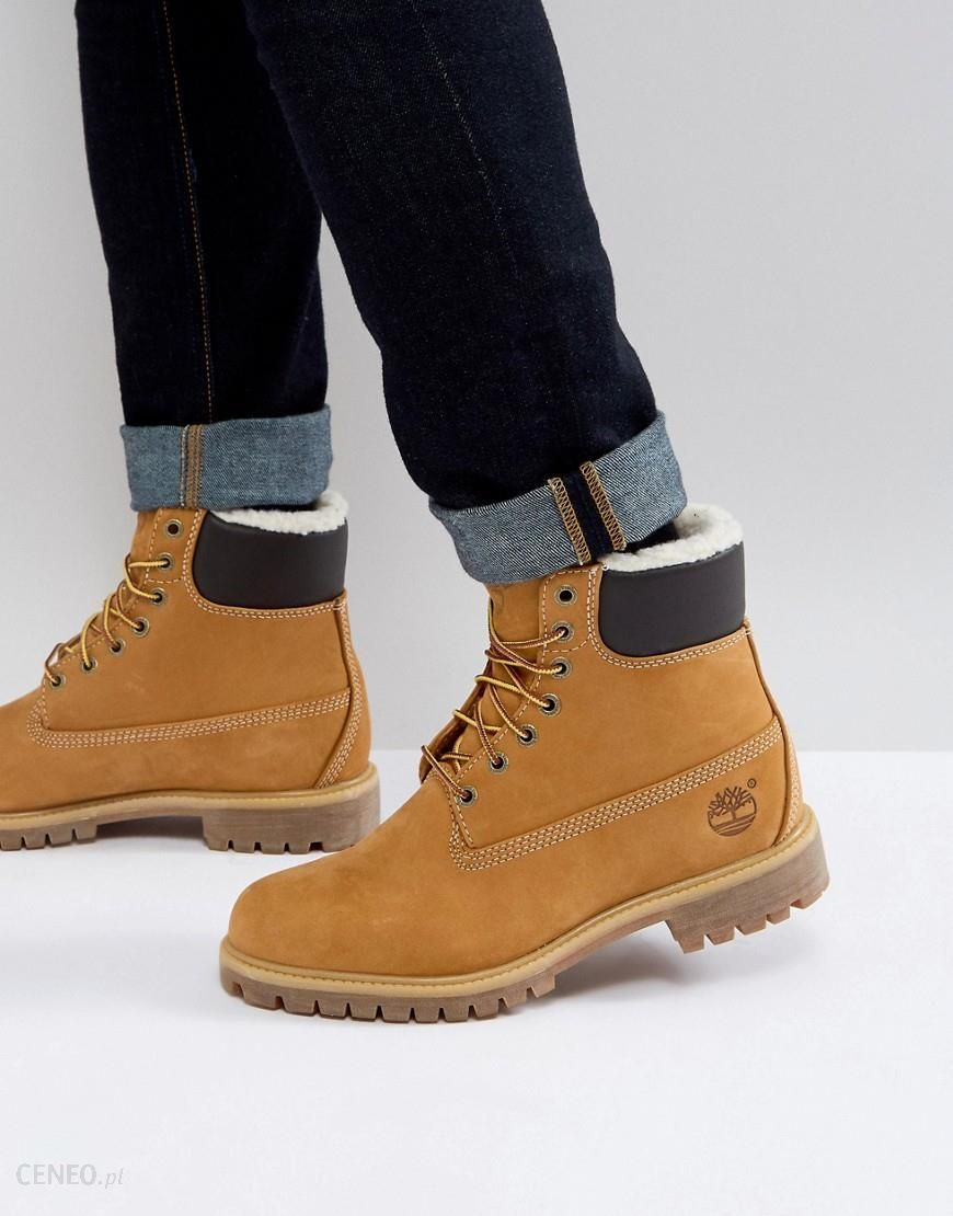 100% genuine fashion style sleek Timberland Heritage 6 Inch Premium Grain Leather Boots - Brown - Ceneo.pl