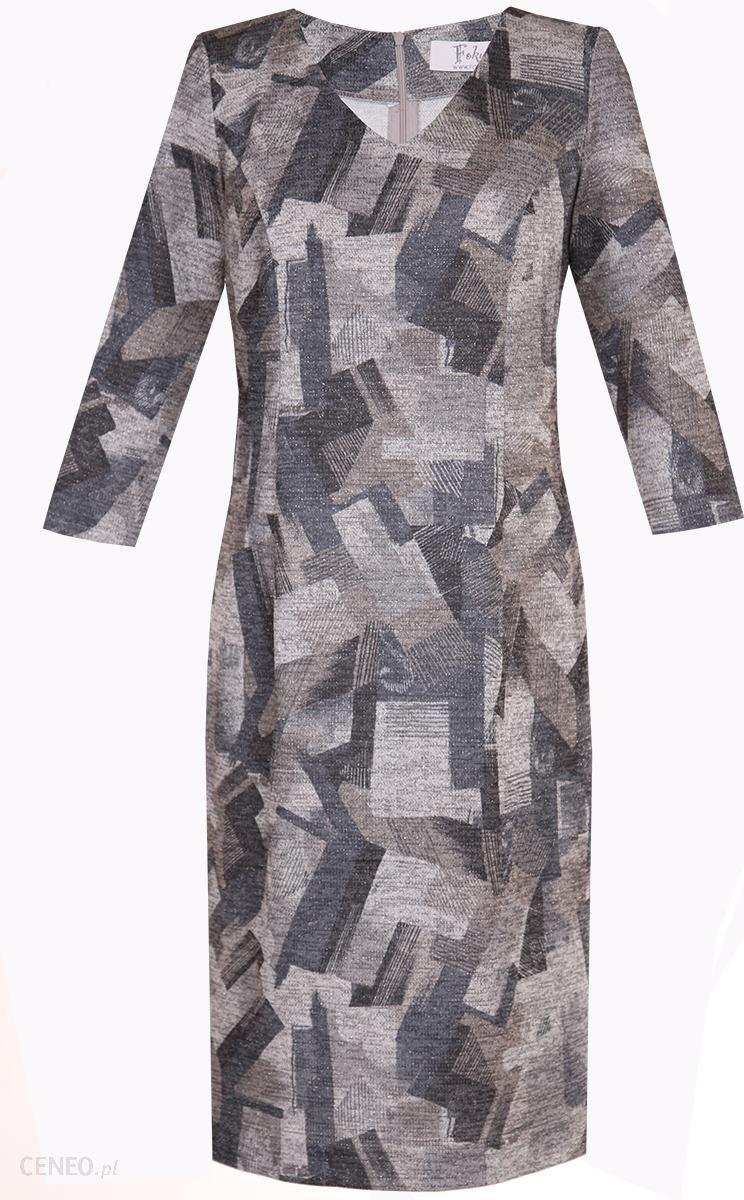 c43630b6fc Sukienki Sukienka Suknie FSU893 SZARY + BEŻOWY wzory - Ceny i opinie ...