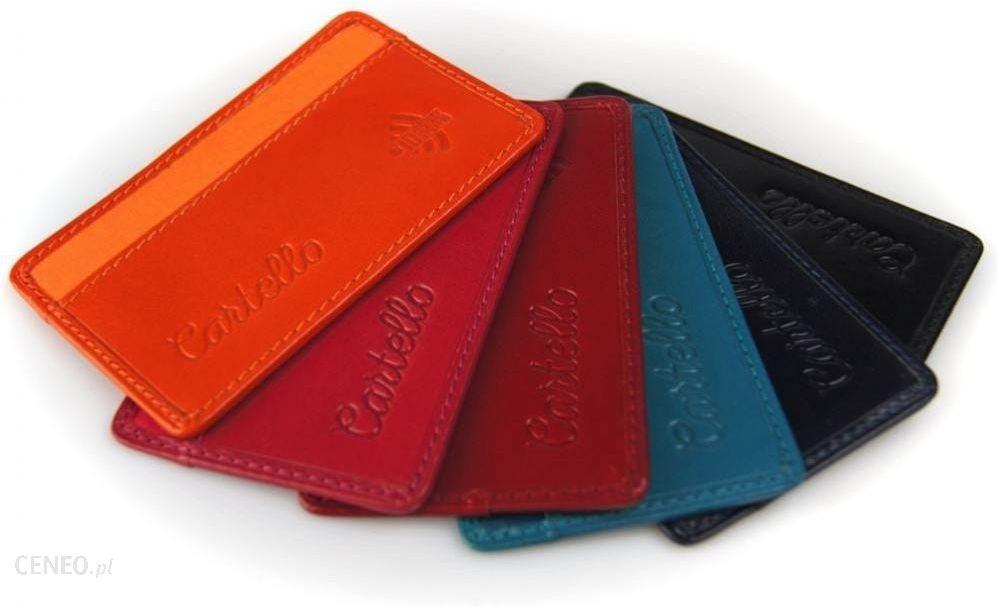 58585d5c9898a Cartello skórzane etui na kartę kredytową z ID Protect System - zdjęcie 1