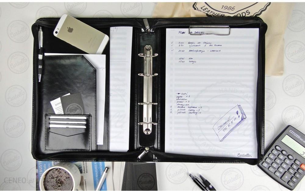 11970a48f5697 Cartello skórzana aktówka na dokumenty z klipem i ringiem Stefano C03 -  zdjęcie 1