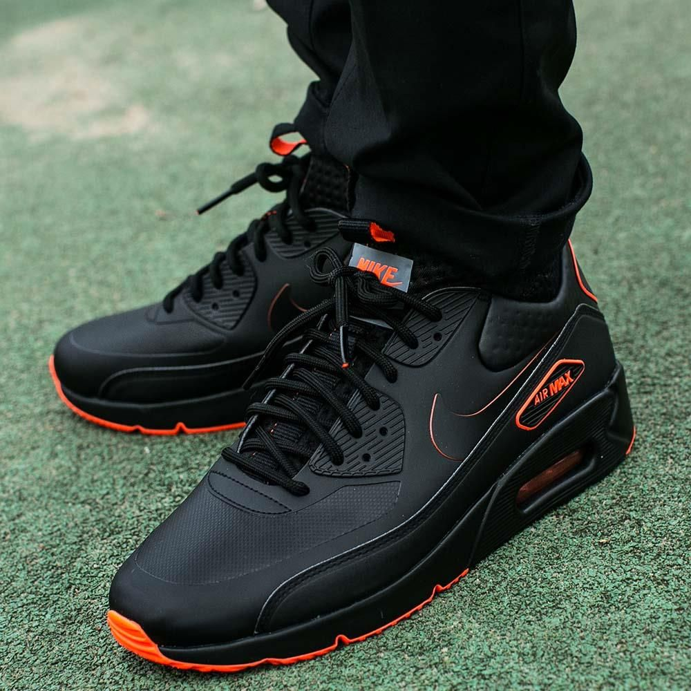 92e38c76a9 Nike Air Max 90 Ultra Mid Winter SE Black Crimson (AA4423-001 ...