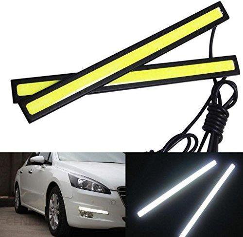 Amazon Weksi światła Do Jazdy Dziennej 2 Sztuki 6 W 6000 K Xenon Biały Oświetlenie Led Cob Samochodowe Lampy Paski Drl świateł Do Jazdy Dziennej świat
