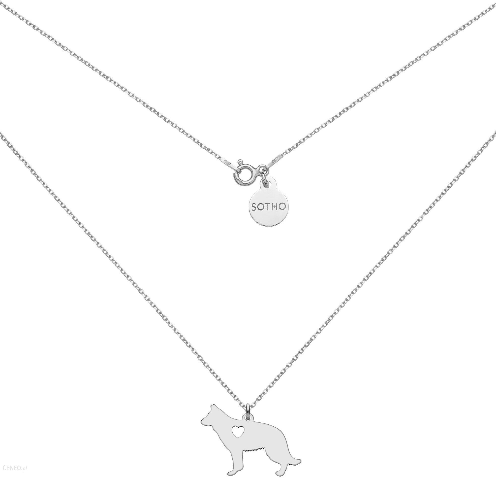 7880a965c779dd Srebrny naszyjnik z psem rasy owczarek niemiecki - zdjęcie 1; « »