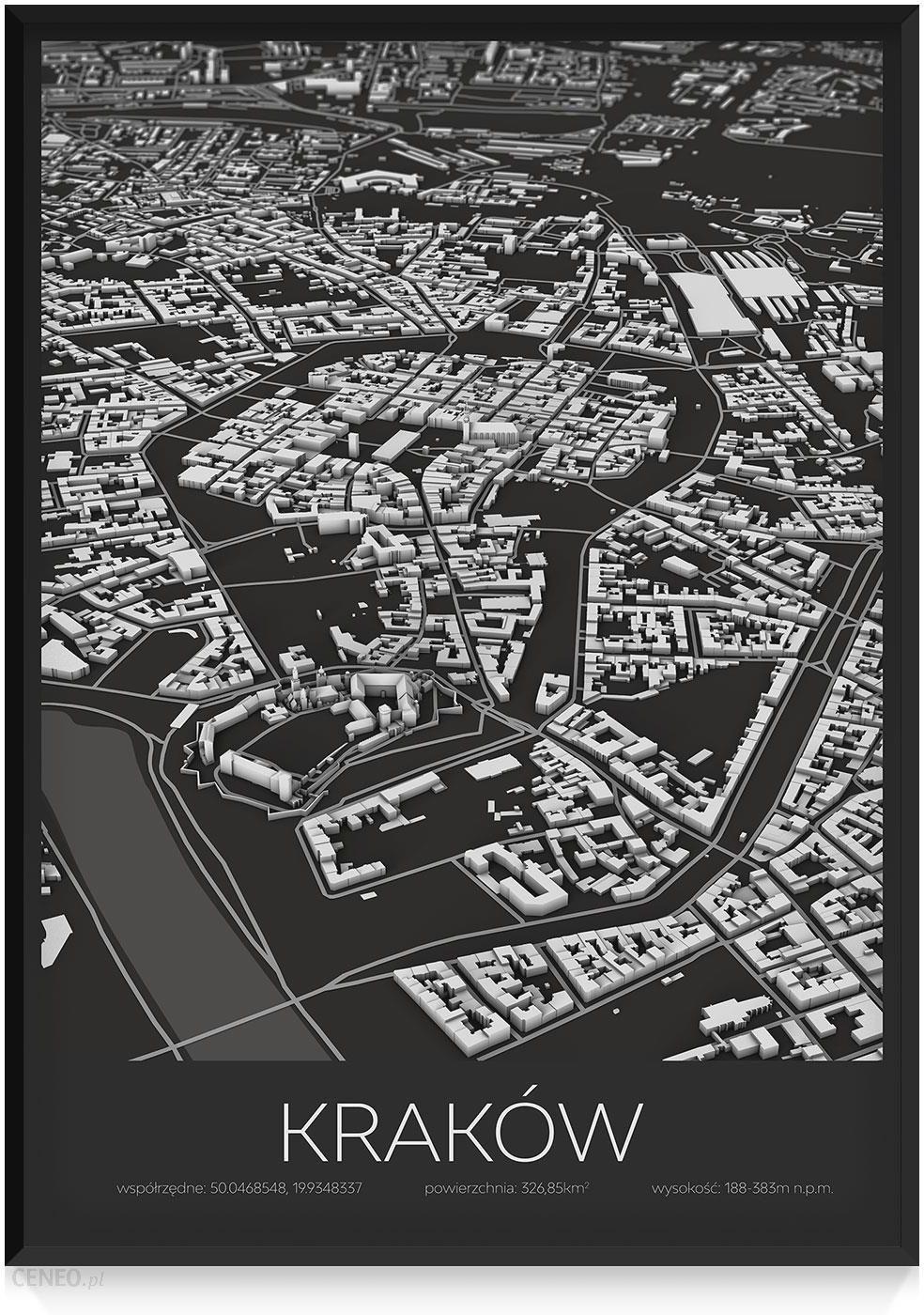 Plakat Kraków Ciemny 70 X 100cm 70 X 100cm Opinie I Atrakcyjne Ceny Na Ceneopl