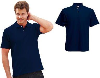 Męskie Polo Original - Fruit of the loom - Deep Navy/Granatowe - Ceny i opinie T-shirty i koszulki męskie DZUF