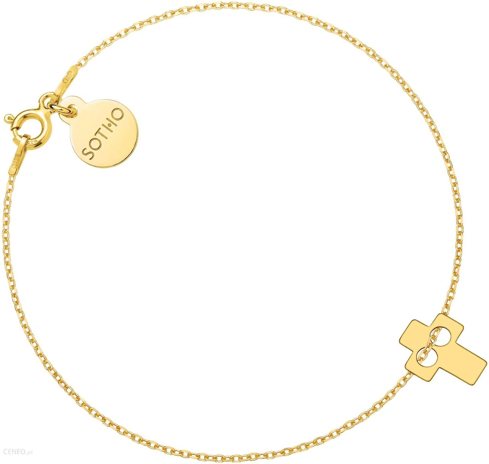 ef2c5c487ffe32 Złota bransoletka z krzyżykiem - zdjęcie 1; « »