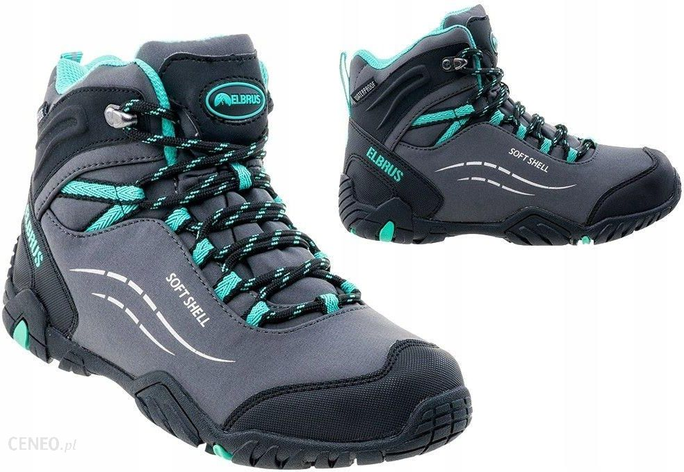 Elbrus Damskie Michelle Mid Wp Wo'S 4171 Blk Turquoise