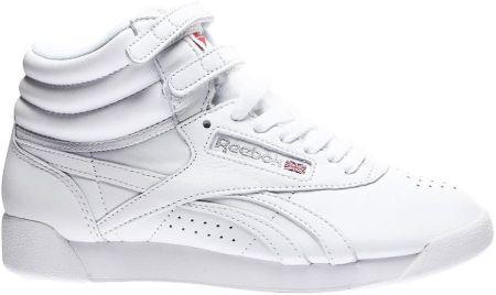 Buty Reebok Freestyle Wysokie Damskie BiałeSrebrne 2431
