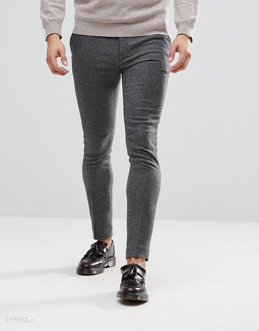 640dd7ca485 ASOS Super Skinny Smart Trousers In Grey Wool Mix Texture - Grey - zdjęcie 1