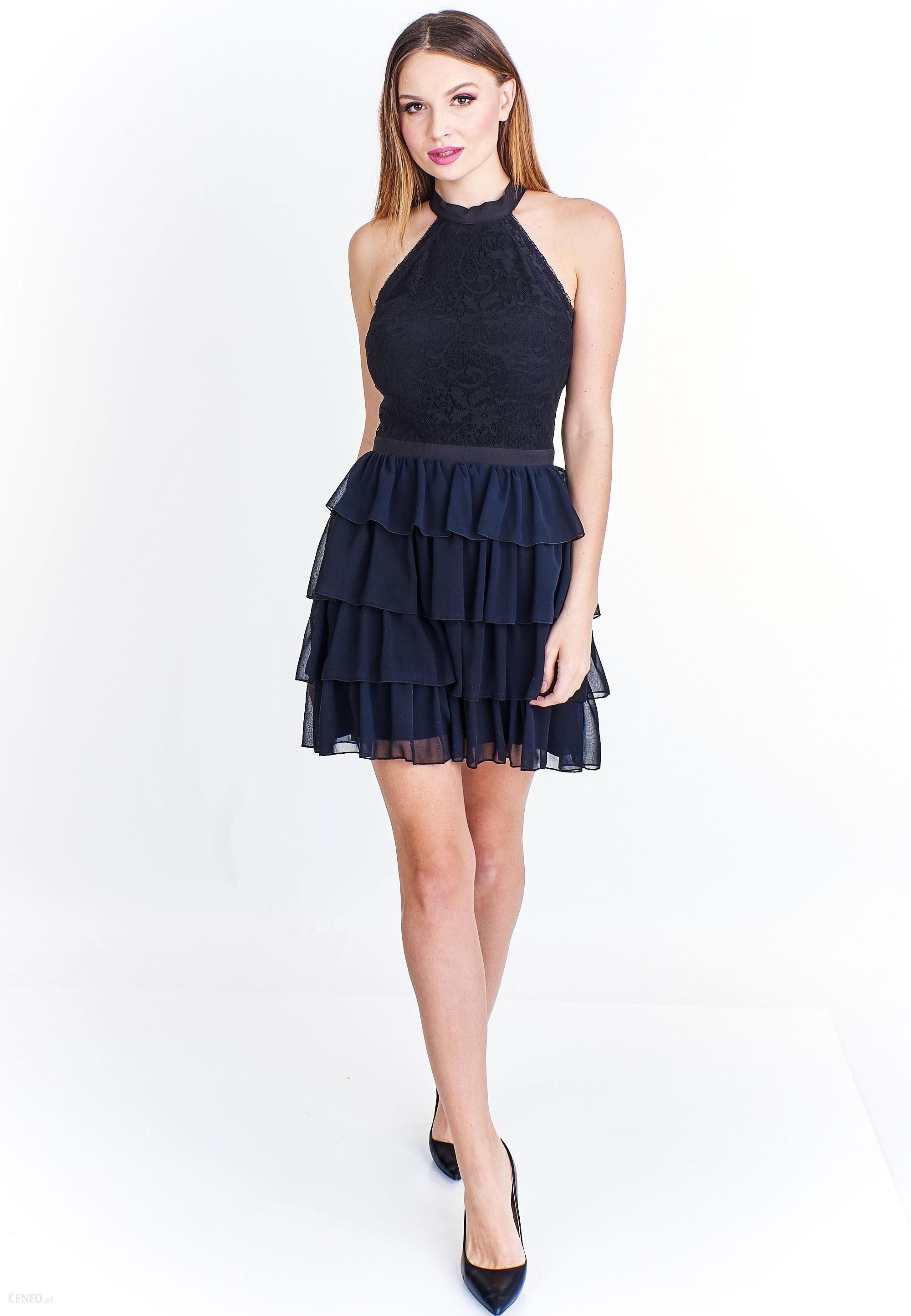 6898596d0e PtakModa - Sukienka mini z falbaniastym dołem ELIT LOOK - Ceny i ...