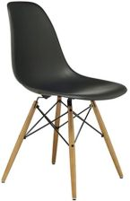 Nowoczesne krzesło białe chrom ANANSI