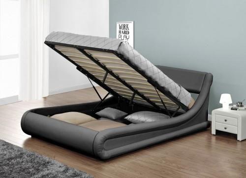 Meblemwm łóżko Tapicerowane Do Sypialni 140x200 138 Popiel Z Materacem