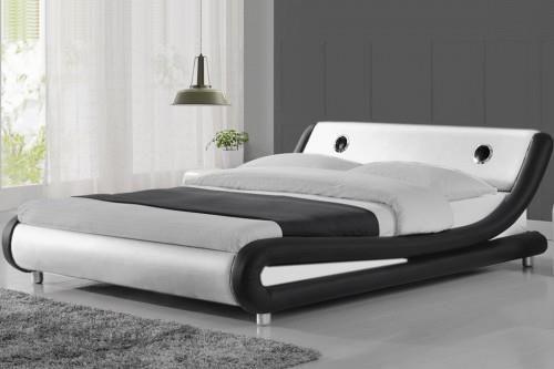 Meblemwm łóżko Tapicerowane Do Sypialni 140x200 114s Biało Czarne Z Materacem Opinie I Atrakcyjne Ceny Na Ceneopl