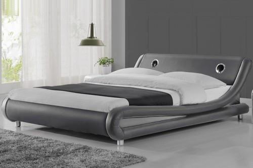 Meblemwm łóżko Tapicerowane Do Sypialni 140x200 114s Popiel Z Materacem