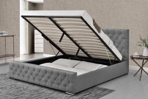 Meblemwm łóżko Tapicerowane Do Sypialni 160x200 1151g Szare Z Materacem Opinie I Atrakcyjne Ceny Na Ceneopl