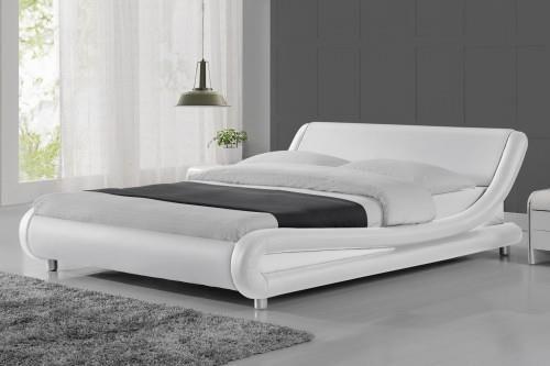 Meblemwm łóżko Tapicerowane Do Sypialni 160x200 114 Białe Z Materacem