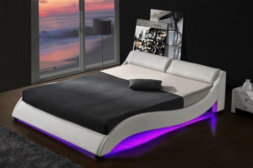 Meblemwm łóżko Tapicerowane Do Sypialni 140x200 868 Led Białe