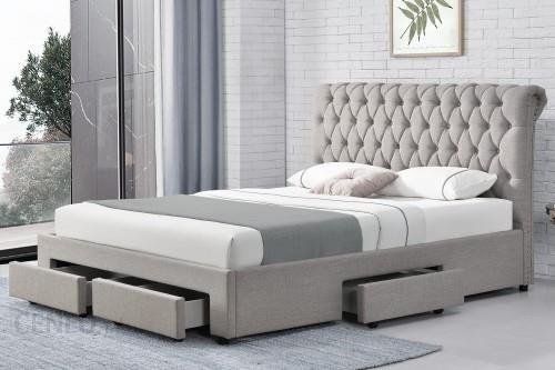 Meblemwm łóżko Tapicerowane Do Sypialni 140x200 1217d Jasno Szare Opinie I Atrakcyjne Ceny Na Ceneopl