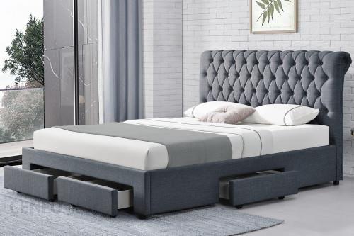 Meblemwm łóżko Tapicerowane Do Sypialni 160x200 1217d Ciemno Szare Z Materacem