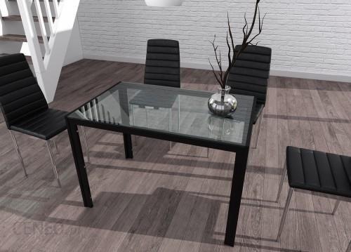 Meblemwm Zestaw Stół Szklany Czarny 4 Krzesła Tapicerowane Opinie I Atrakcyjne Ceny Na Ceneopl