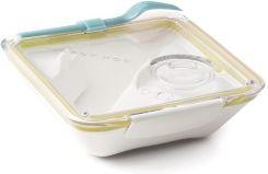NEW Black+Blum Box Appetit Bento Box White//Ocean