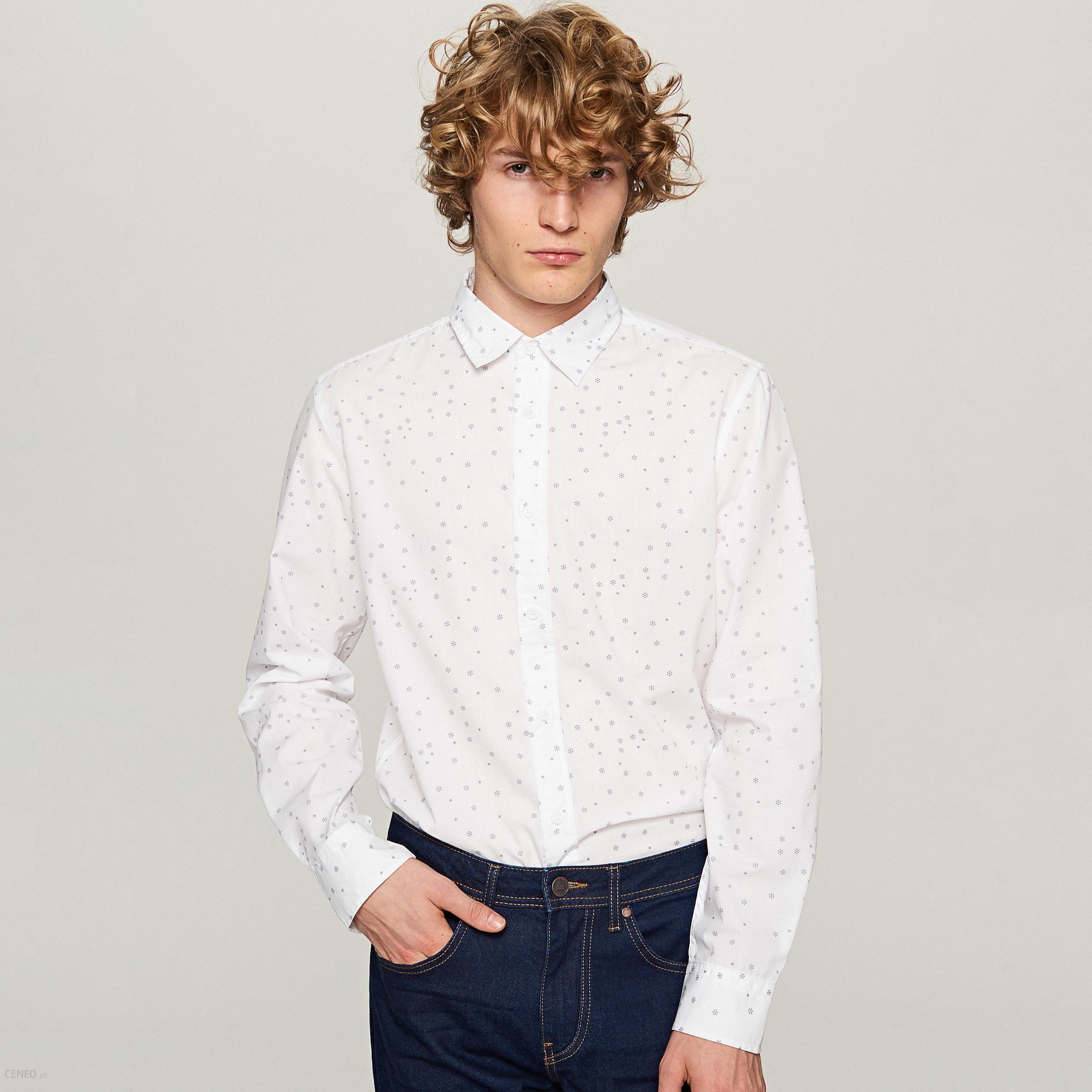 3b489ab6cc0e Reserved - Koszula z nadrukiem świątecznym - Biały - Ceny i opinie ...