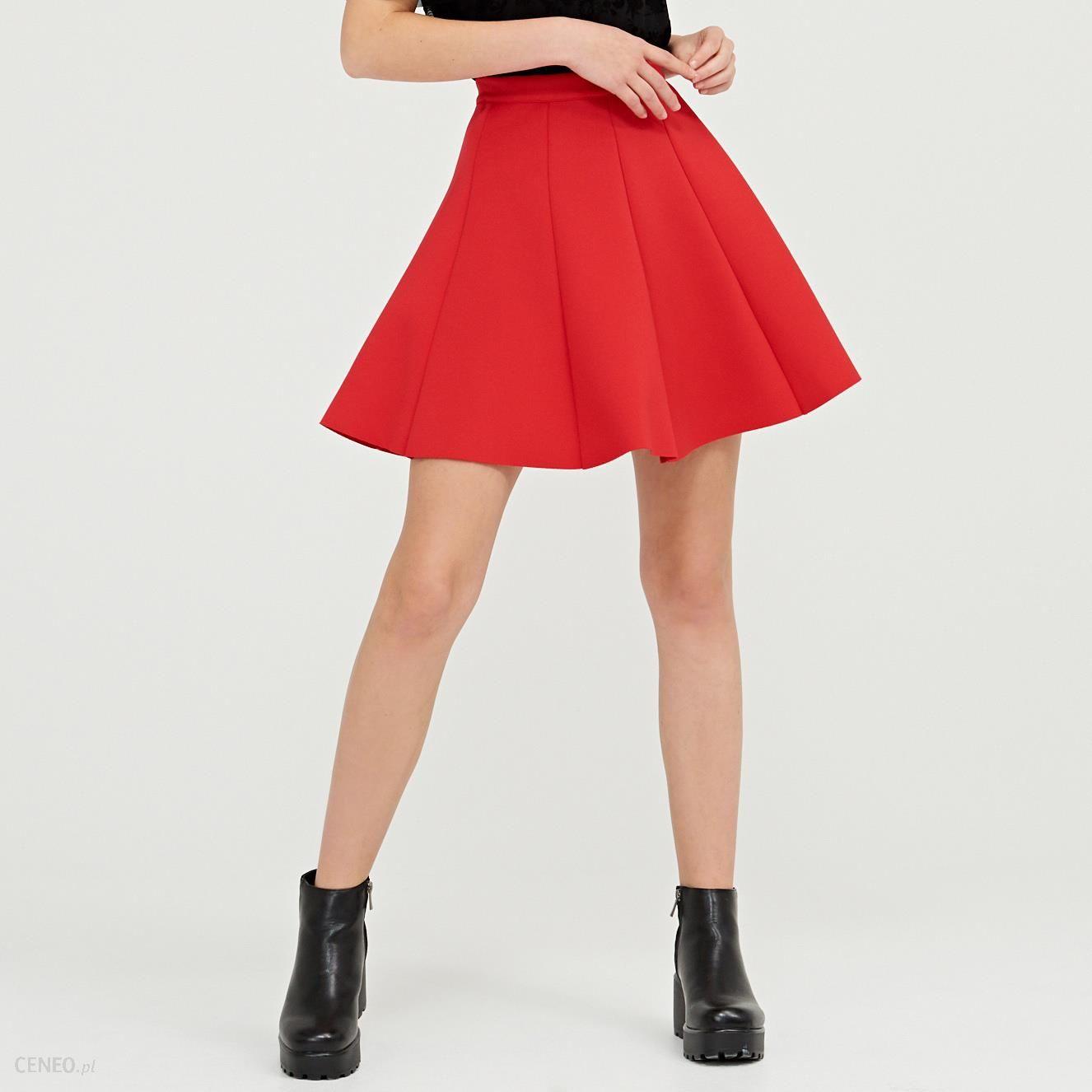 8660575bbe Cropp - Plisowana spódnica - Czerwony - Ceny i opinie - Ceneo.pl