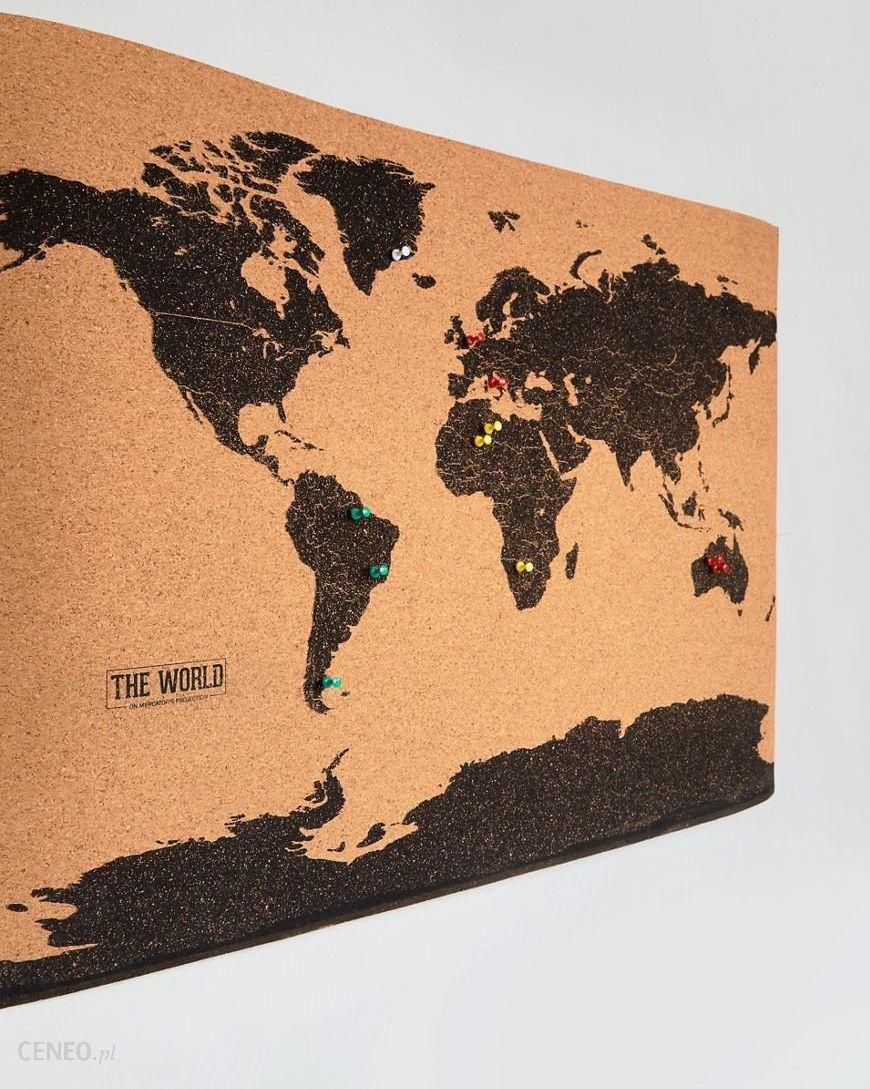 Gift Republic World Map Cork Board Multi Ceneo