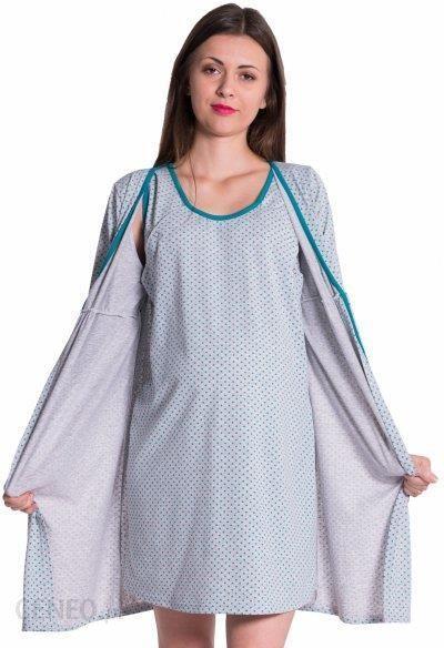 02eeb541a6a367 Koszula nocna ciążowa ze szlafrokiem 4034 - Ceny i opinie - Ceneo.pl